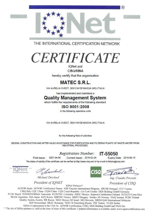 Certificat IQNET